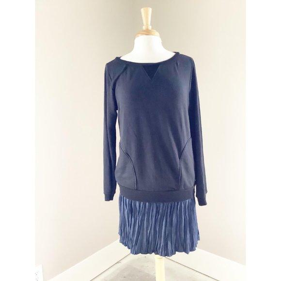 Anthropologie Bordeaux Black Sweater Dress M